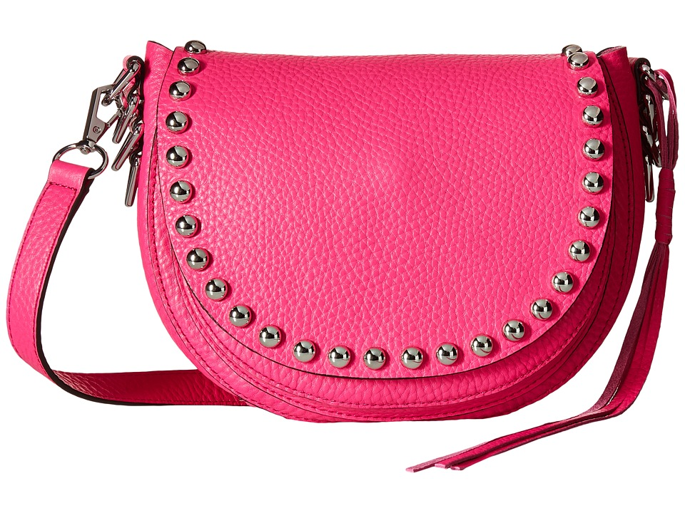 Rebecca Minkoff - Unlined Saddle Bag (Flamingo) Cross Body Handbags