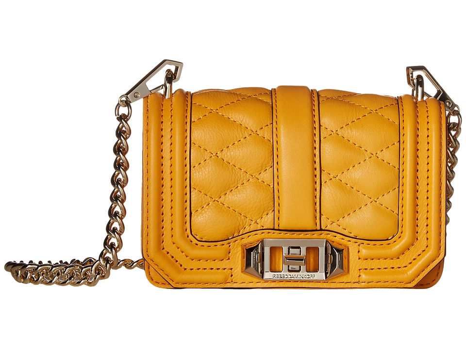Rebecca Minkoff - Mini Love Crossbody (Saffron) Cross Body Handbags