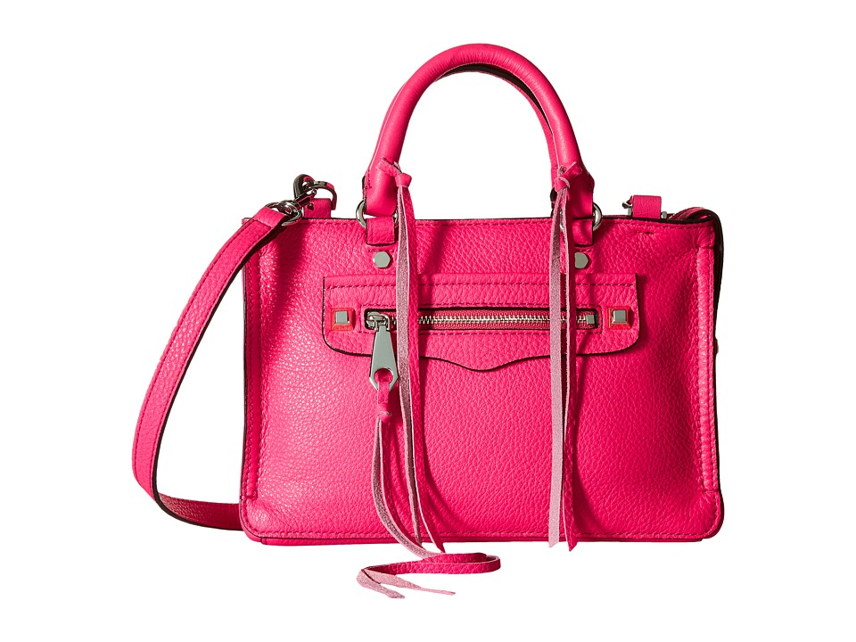 Rebecca Minkoff - Micro Regan Satchel (Flamingo) Satchel Handbags