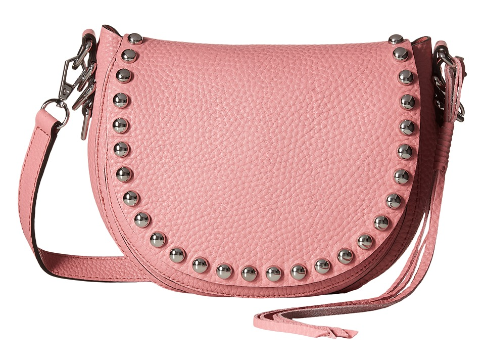 Rebecca Minkoff - Unlined Saddle Bag (Guava) Cross Body Handbags