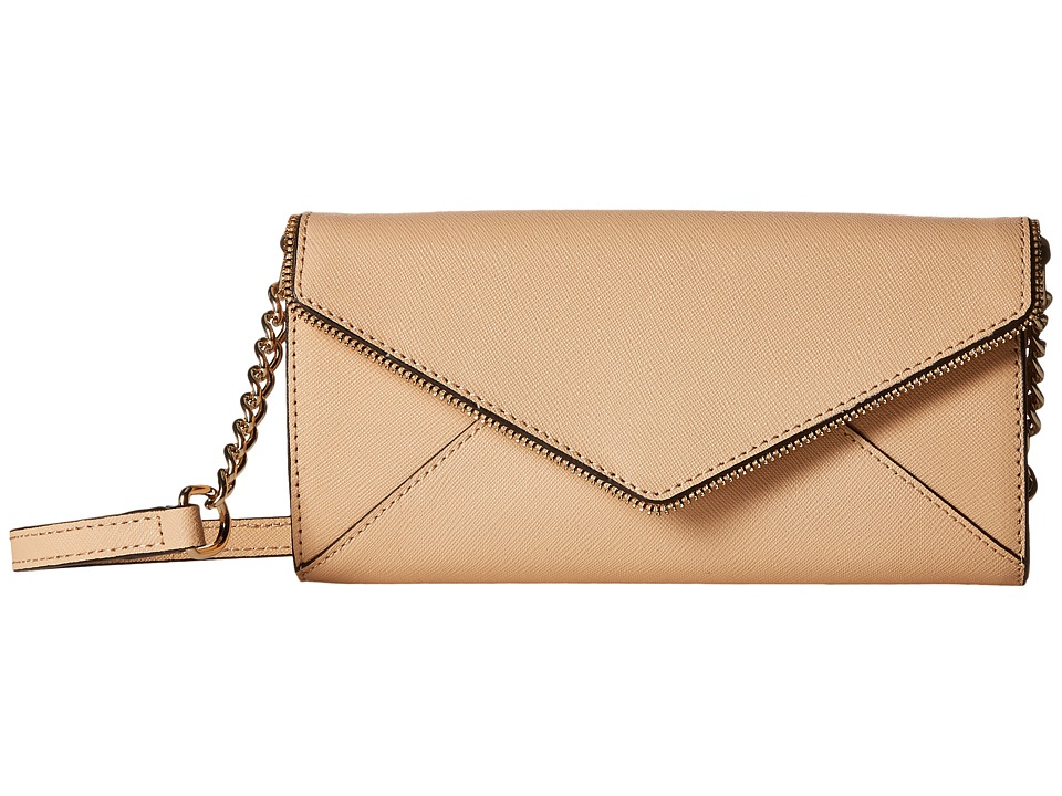 Rebecca Minkoff - Cleo Wallet on a Chain (Biscuit) Wallet Handbags