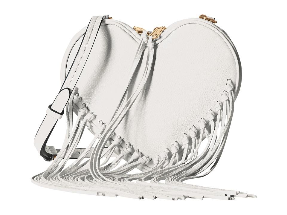 Rebecca Minkoff - Heart Fringe Crossbody (White) Cross Body Handbags