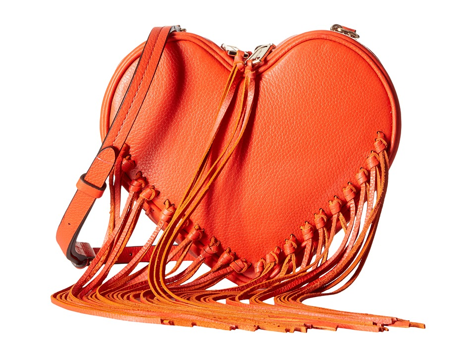 Rebecca Minkoff - Heart Fringe Crossbody (Poppy Red) Cross Body Handbags