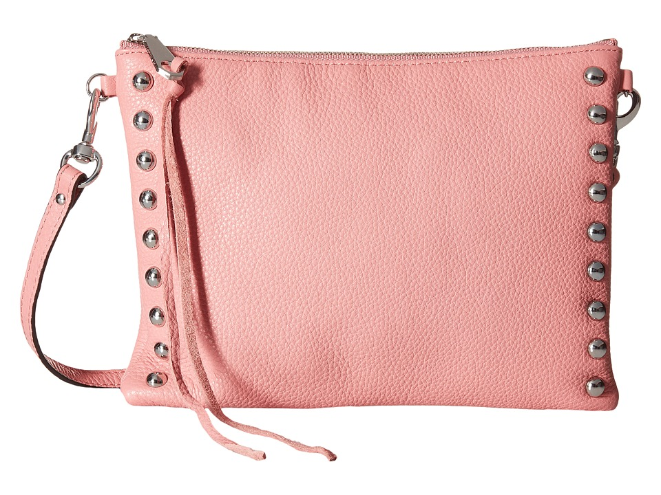Rebecca Minkoff - Jon Crossbody with Studs (Guava) Cross Body Handbags