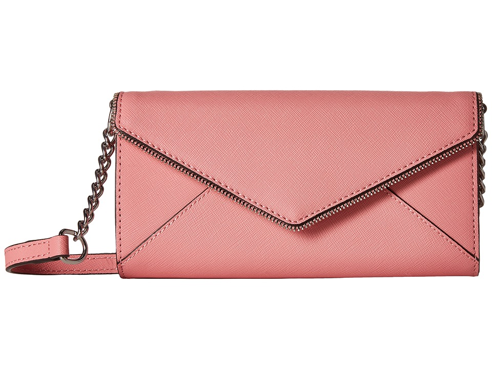 Rebecca Minkoff - Cleo Wallet on a Chain (Guava) Wallet Handbags