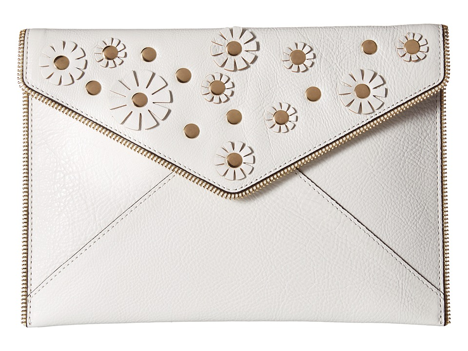 Rebecca Minkoff - Leo Clutch (White) Clutch Handbags