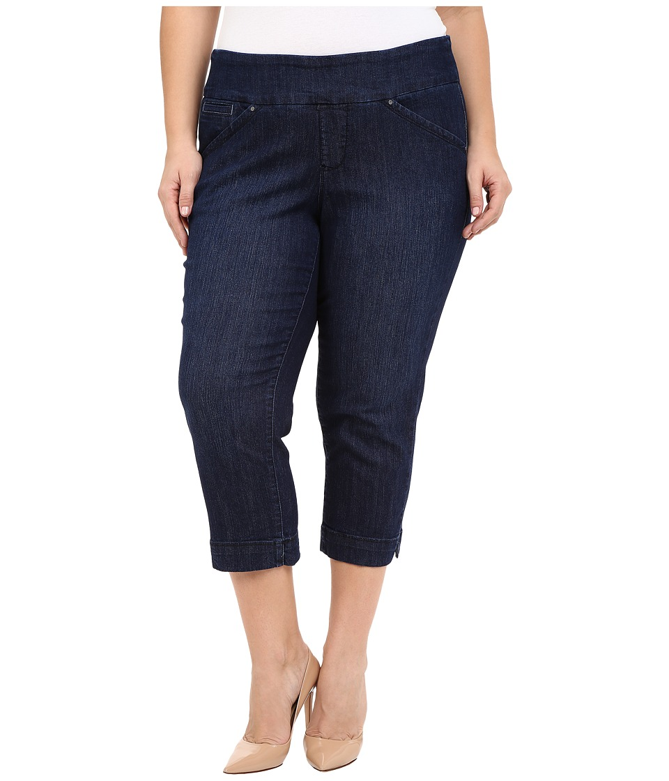 Jag Jeans Plus Size - Plus Size Marion Crop in Blue Shadow Comfort Denim (Blue Shadow) Women's Jeans