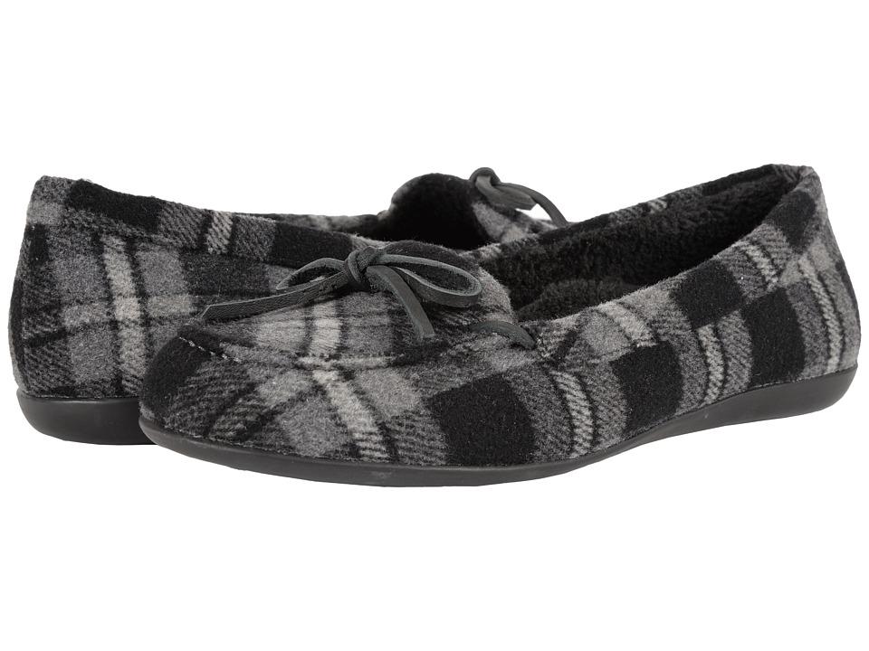 VIONIC - Cozy Ida Slipper (Grey Plaid) Women's Flat Shoes