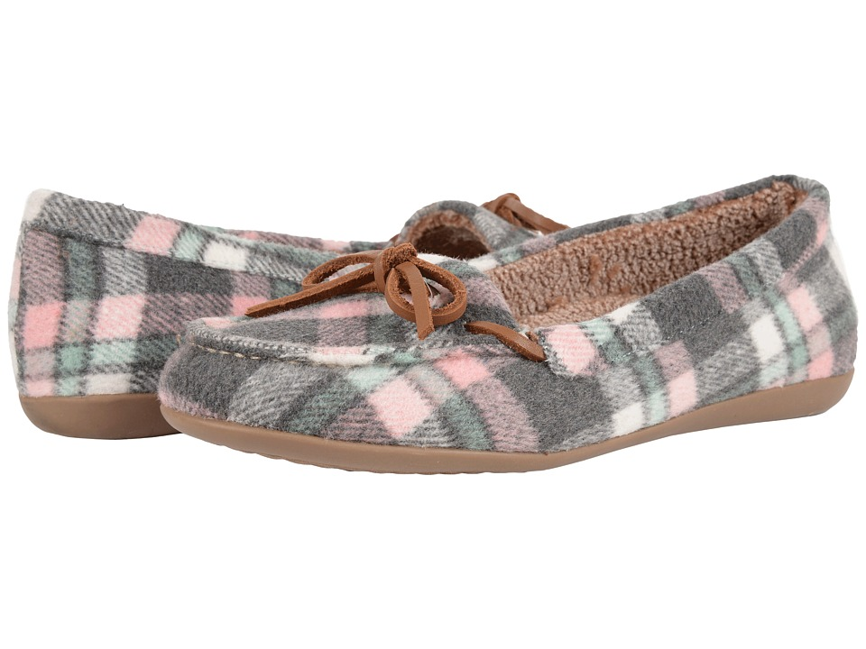 VIONIC - Cozy Ida Slipper (Pink Plaid) Women's Flat Shoes