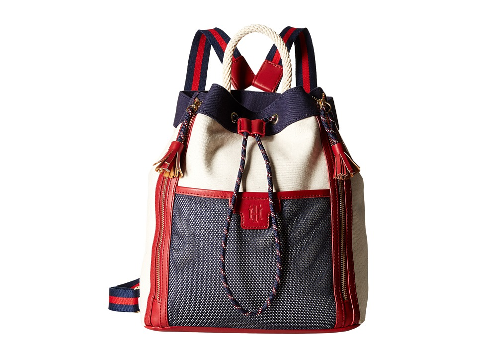 Tommy Hilfiger - Josie - Backpack - Canvas (Natural/Multi) Backpack Bags