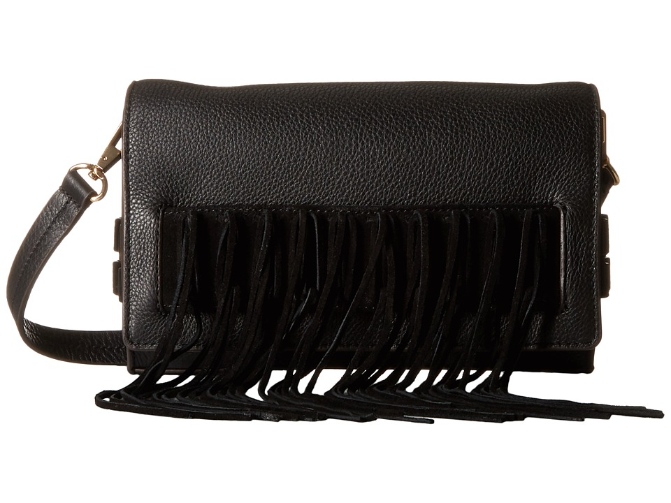 Rebecca Minkoff - Heavy Laced Clutch (Black) Clutch Handbags