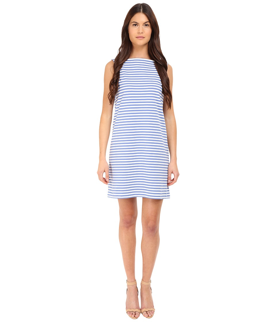 Kate Spade New York - Stripe Everyday Shift Dress (Classic Mens Blue) Women's Dress