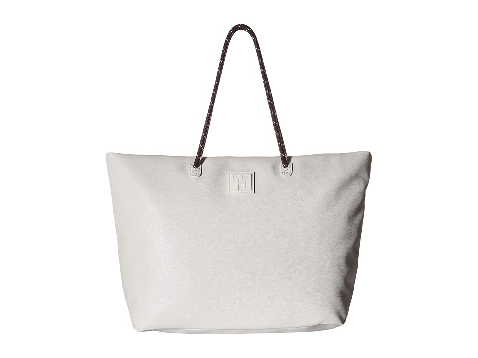 Tommy Hilfiger - Tommy Hilfiger Sport - Tote Story - Sporty Textured Small Tote (White) Tote Handbags