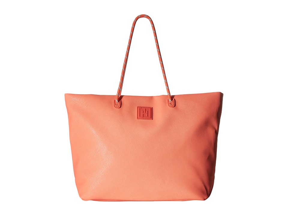 Tommy Hilfiger - Tommy Hilfiger Sport - Tote Story - Sporty Textured Small Tote (Coral) Tote Handbags