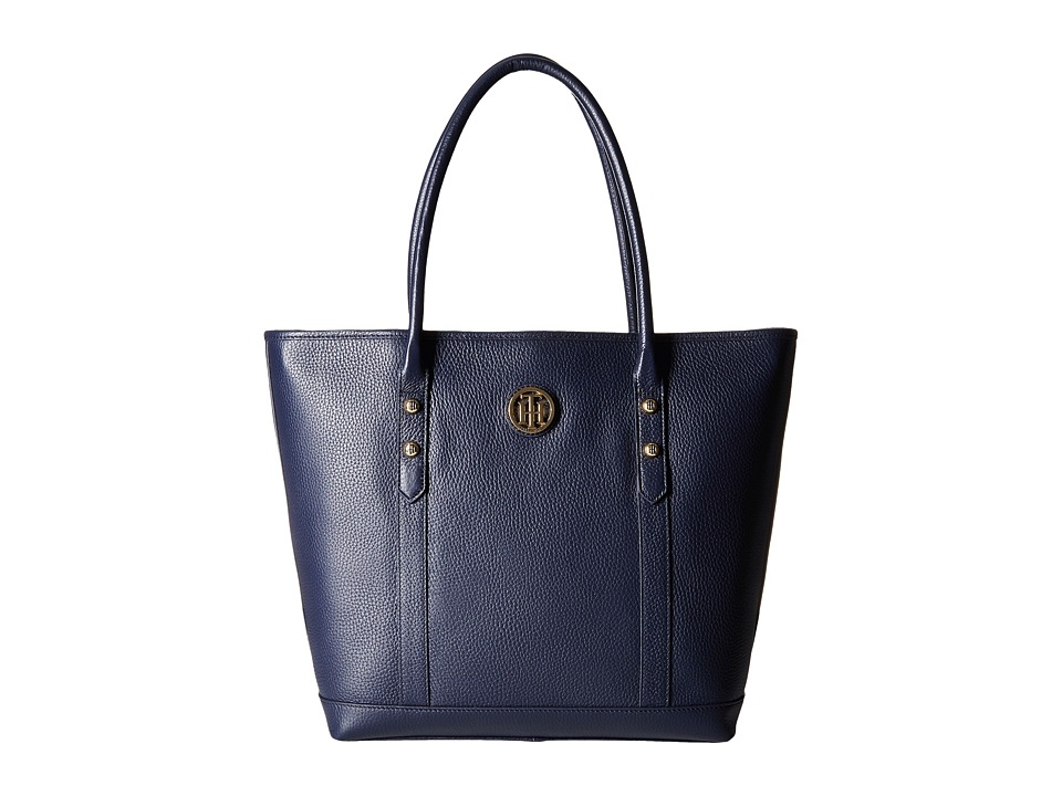 Tommy Hilfiger - Hadley - Tote - Pebble Leather (Tommy Navy) Tote Handbags