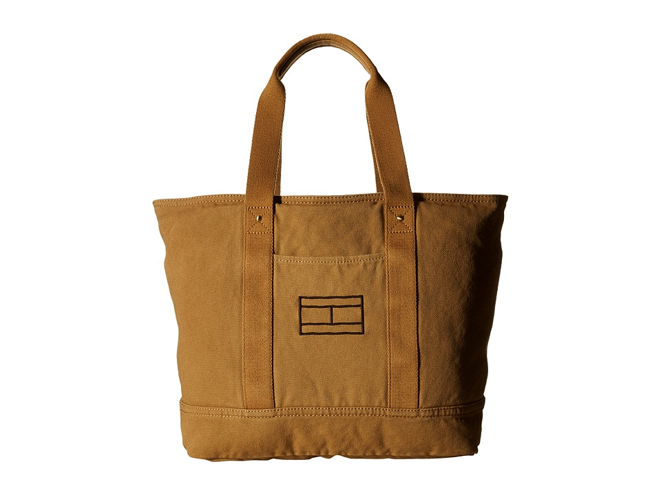 Tommy Hilfiger - Item Tote - Canvas Tote (British Tan) Tote Handbags