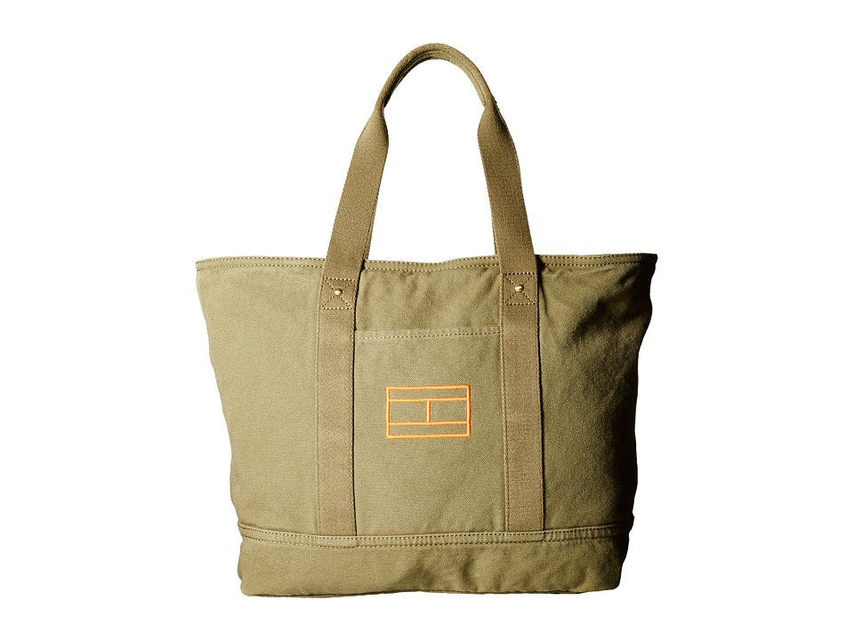 Tommy Hilfiger - Item Tote - Canvas Tote (Olive) Tote Handbags