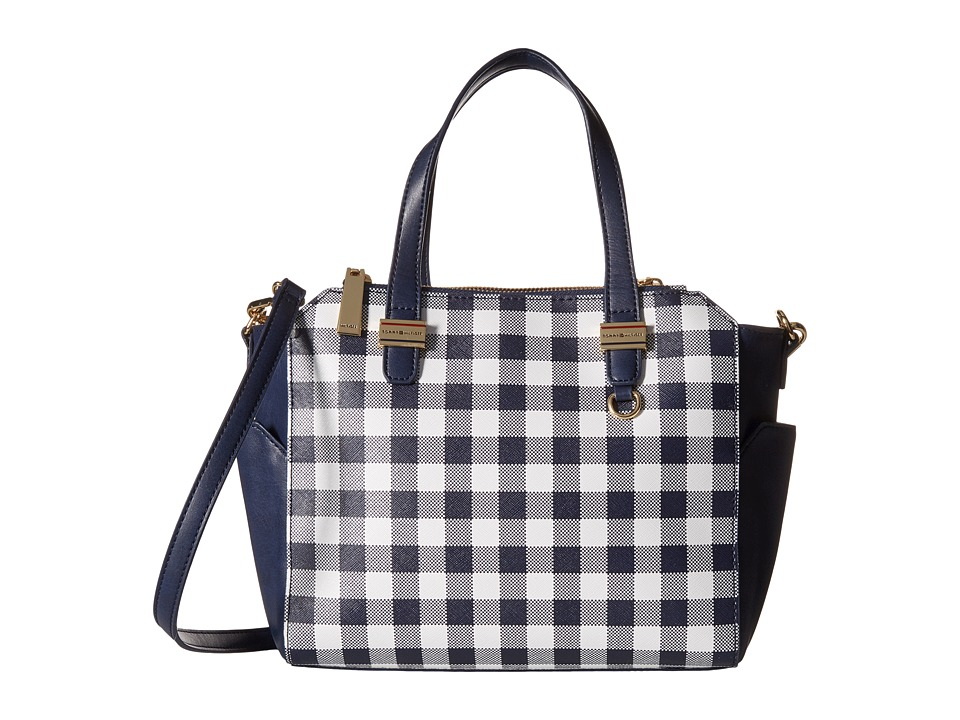 Tommy Hilfiger - Gianna - Canvas Small Shopper - Gingham (Navy/White) Tote Handbags