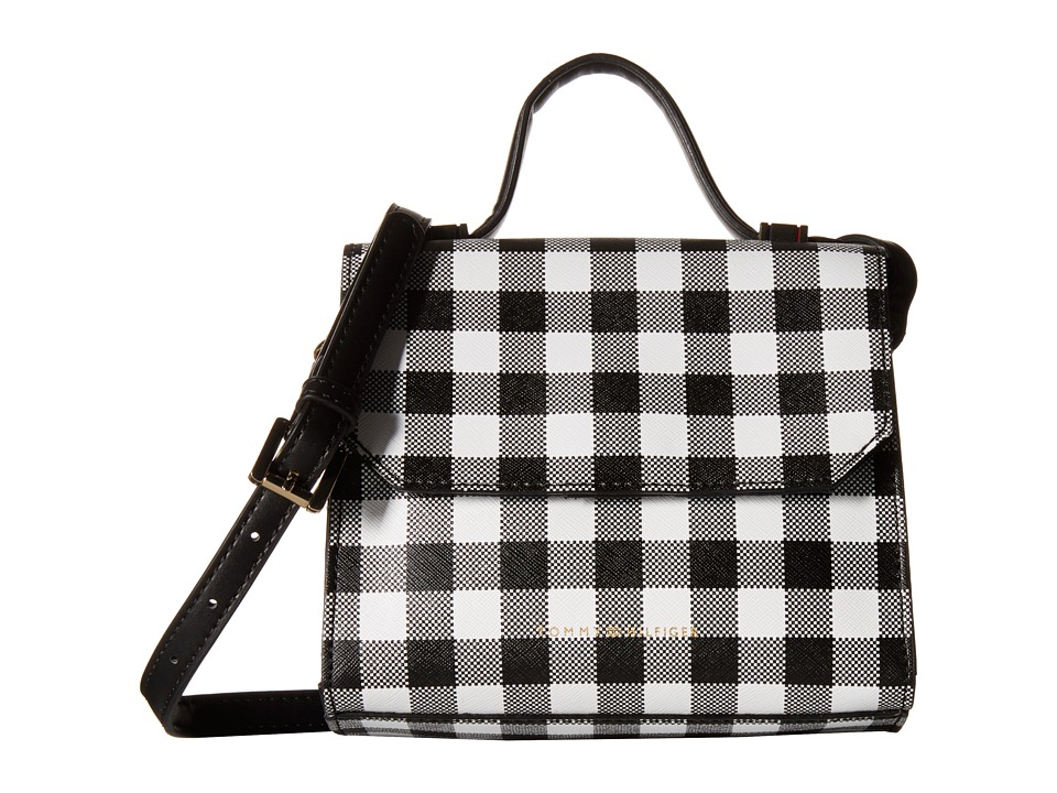Tommy Hilfiger - Gianna - Mini Bag - Top-Handle Crossbody - Gingham (Black/White) Cross Body Handbags