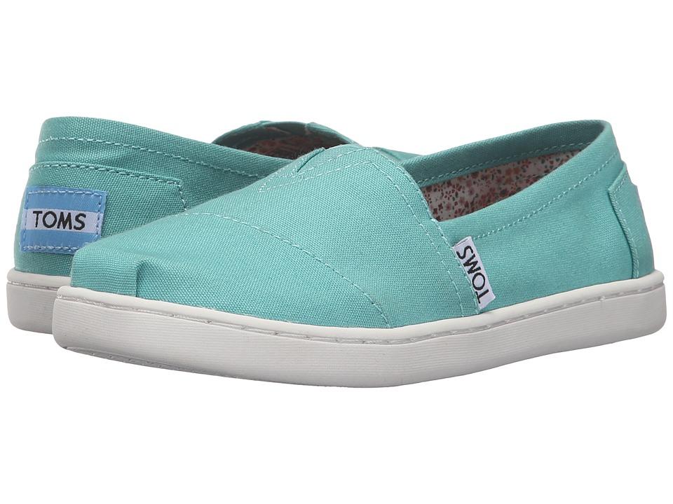 TOMS Kids - Seasonal Classics (Little Kid/Big Kid) (Blue Turquoise Canvas) Girls Shoes