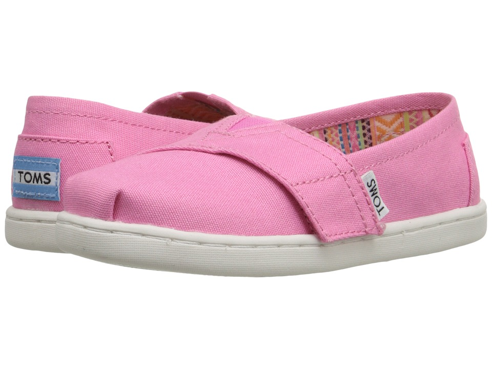 TOMS Kids - Seasonal Classics (Infant/Toddler/Little Kid) (Sachet Pink Canvas) Girls Shoes