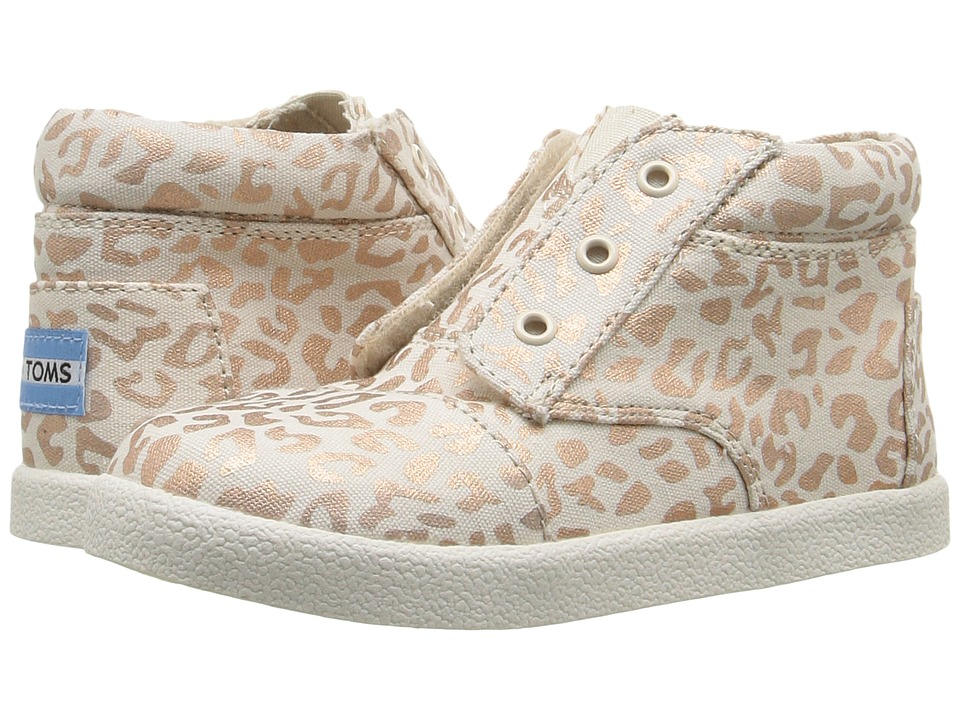 TOMS Kids - Paseo High Sneaker (Infant/Toddler/Little Kid) (Rose Gold Cheetah Foil) Girls Shoes