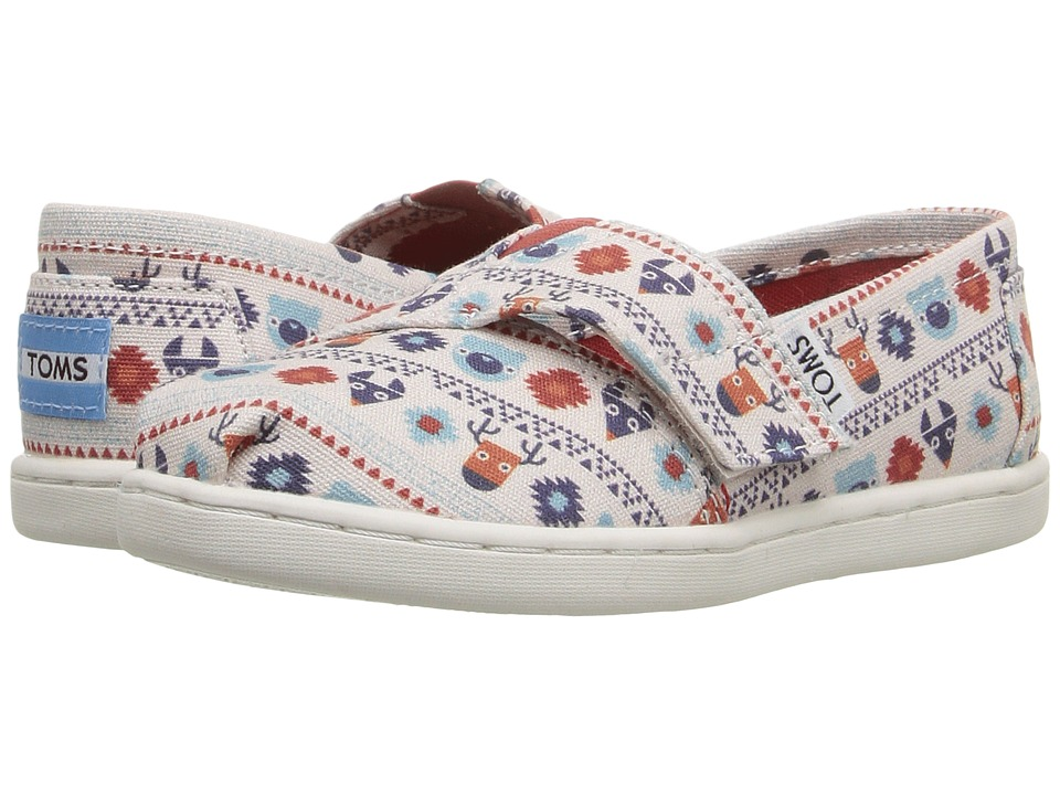 TOMS Kids - Seasonal Classics (Infant/Toddler/Little Kid) (Birch Multi Critters) Girls Shoes