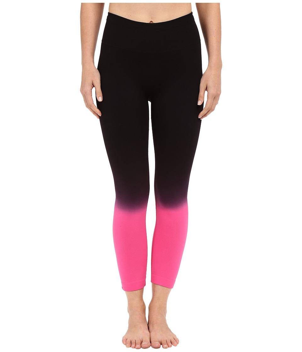 Champion - Seamless Dip Dye Capris (Dip Dye Black/Pinksicle) Women's Capri