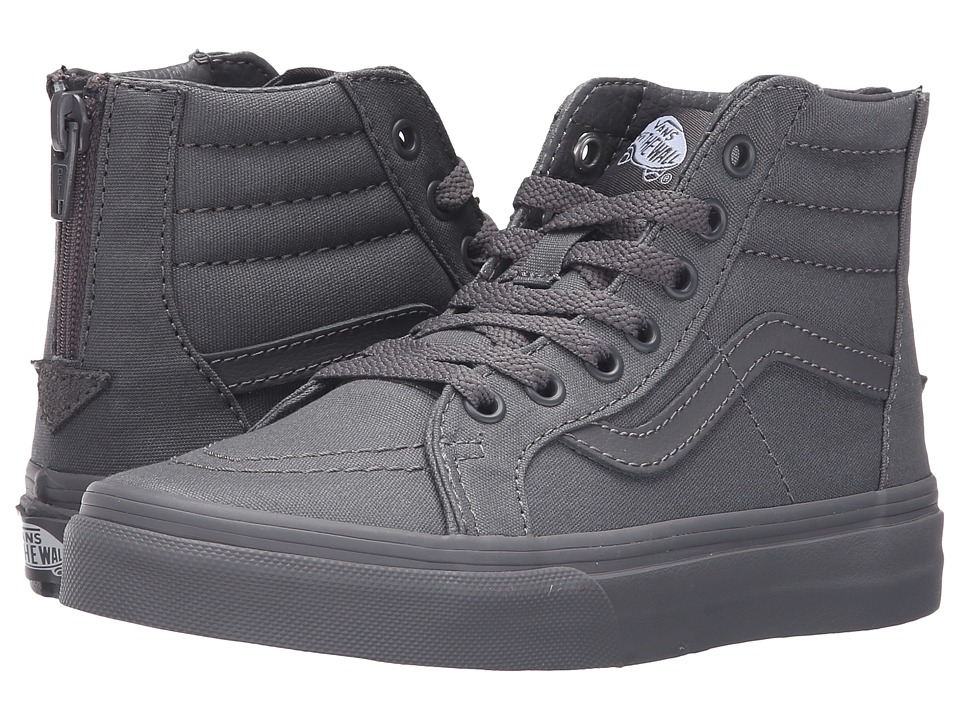 Vans Kids - Sk8-Hi Zip (Little Kid/Big Kid) ((Mono) Tornado) Boys Shoes