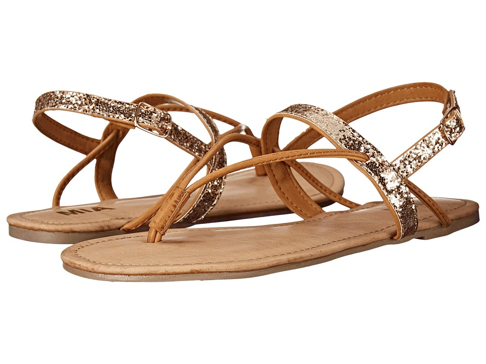 MIA - Cassandra (Gold Glitter) Women's Shoes
