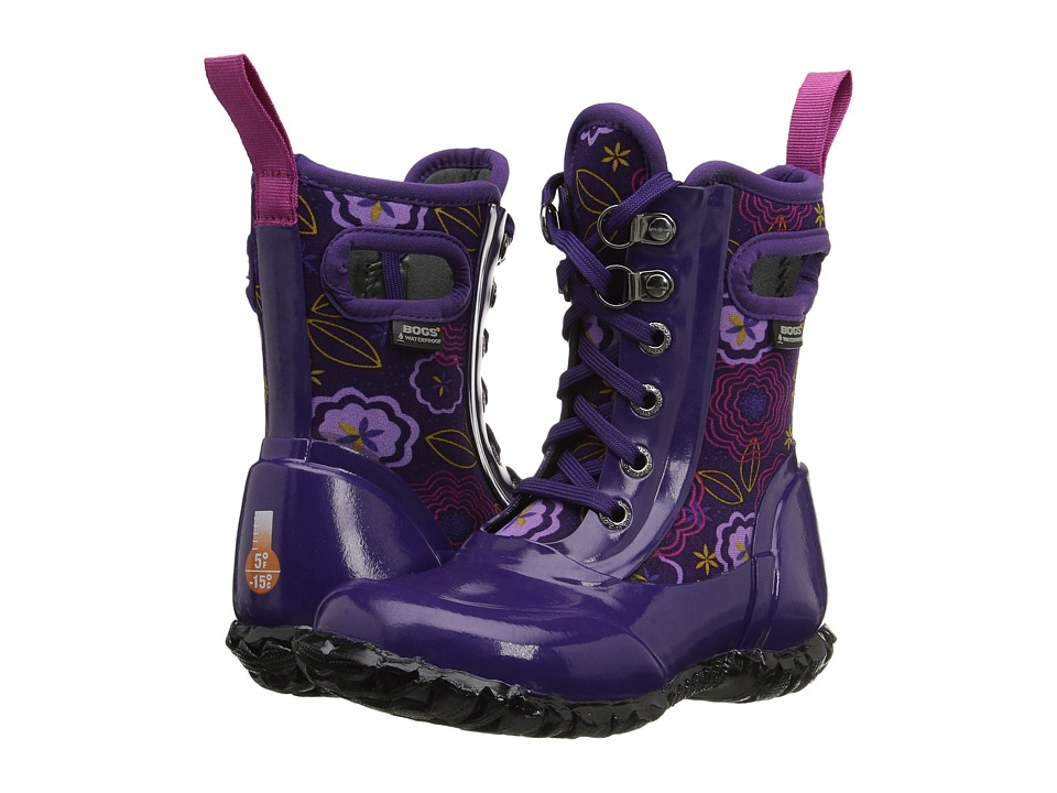 Bogs Kids - Sidney Lace Posey (Toddler/Little Kid/Big Kid) (Posey Grape Multi) Girls Shoes