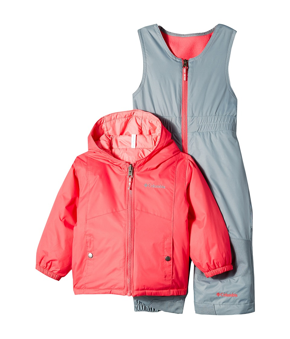 Columbia Kids - Double Flake Set (Infant) (Punch Pink/Camellia Rose/Grey Ash) Kid's Active Sets