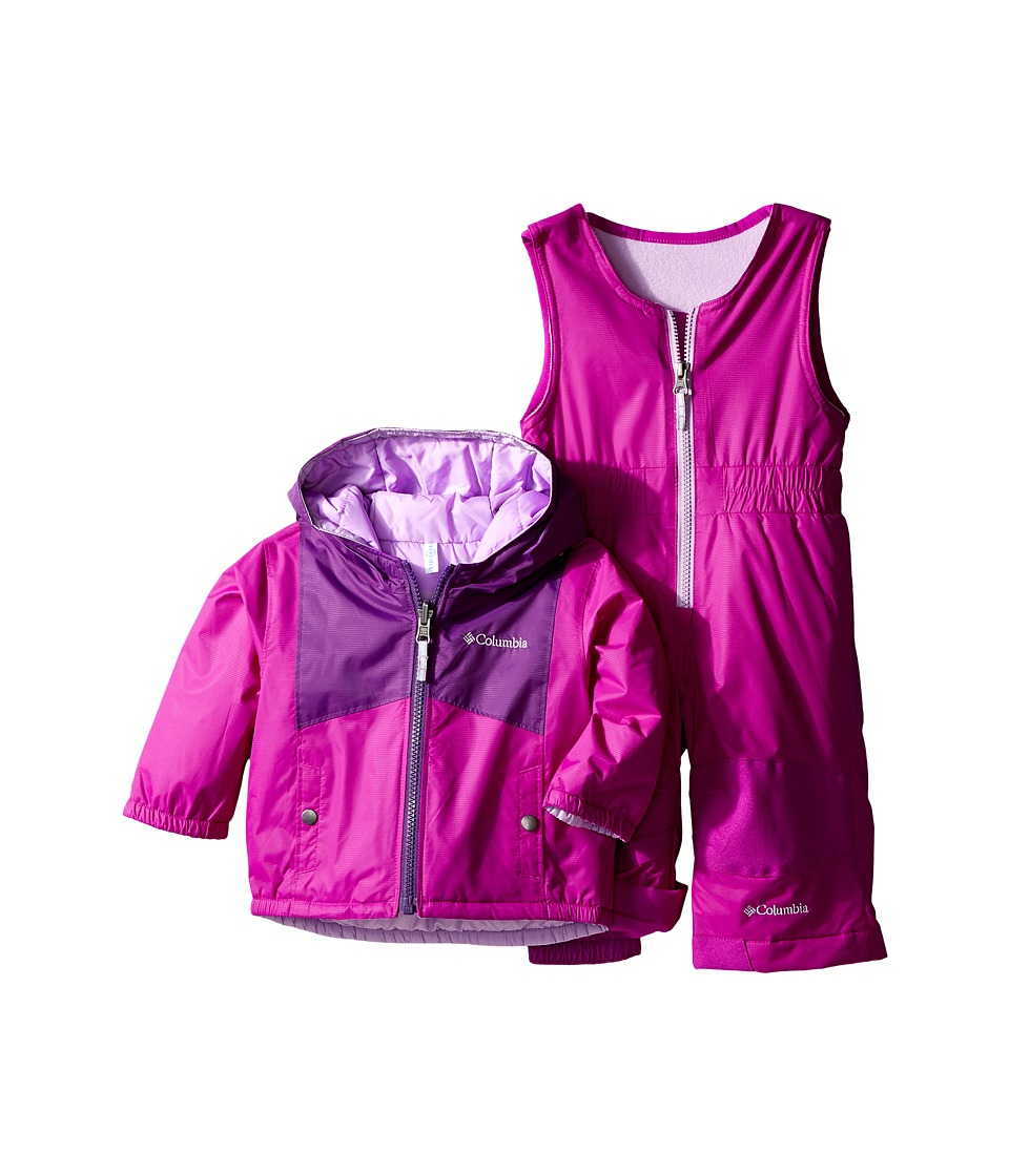 Columbia Kids - Double Flake Set (Infant) (Iris Glow/Bright Plum/Hydrangea) Kid's Active Sets