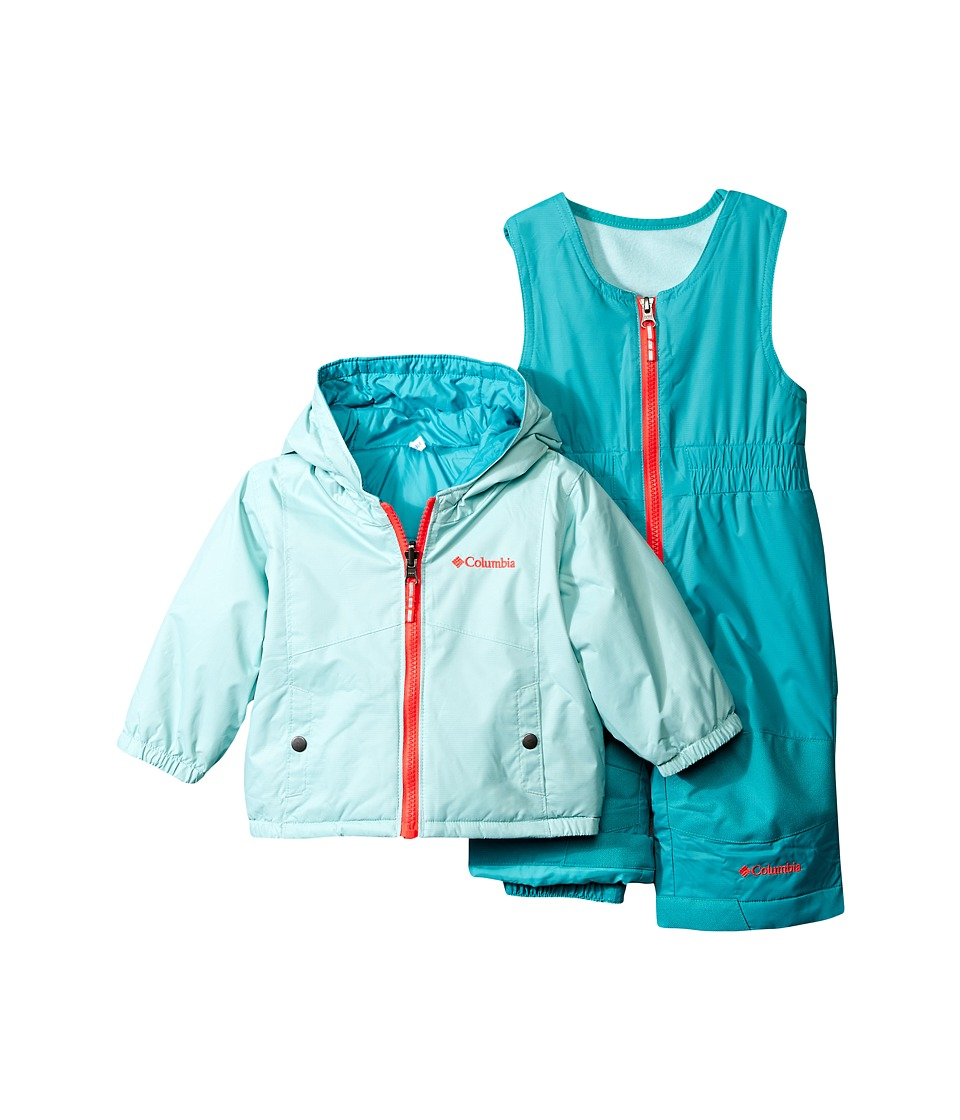 Columbia Kids - Double Flake Set (Infant) (Spray/Miami/Laser Red) Kid's Active Sets
