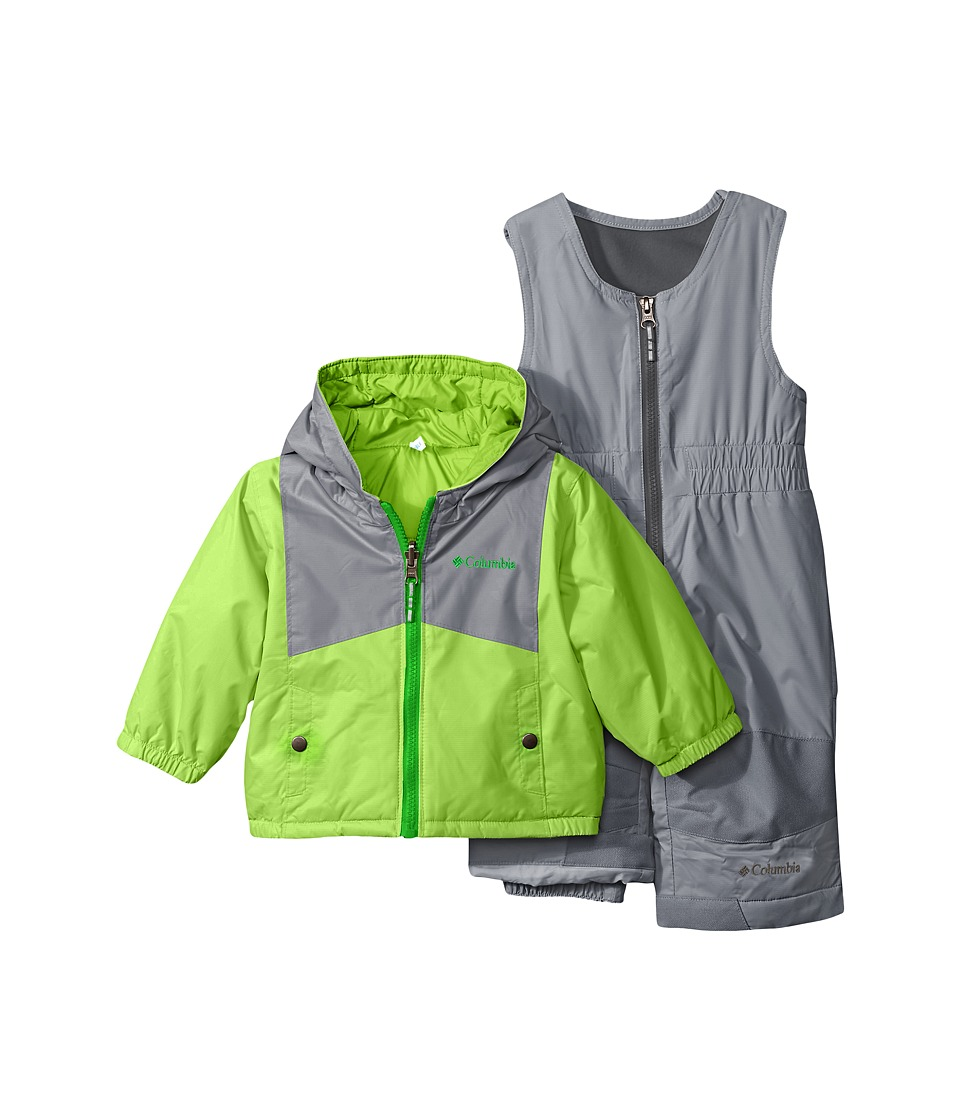 Columbia Kids - Double Flake Set (Infant) (Green Mamba/Grey Ash) Kid's Active Sets