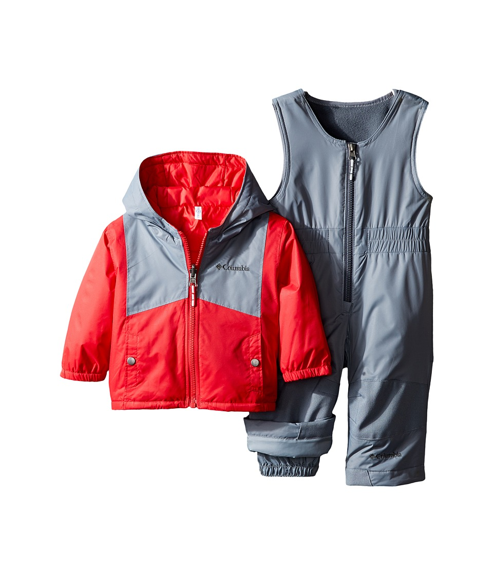 Columbia Kids - Double Flake Set (Infant) (Mountain Red/Grey Ash) Kid's Active Sets