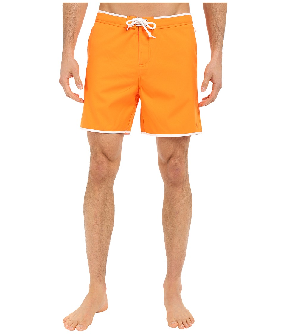 Original Penguin - Earl Fixed Volley Swim Shorts (Orange Peel) Men's Swimwear