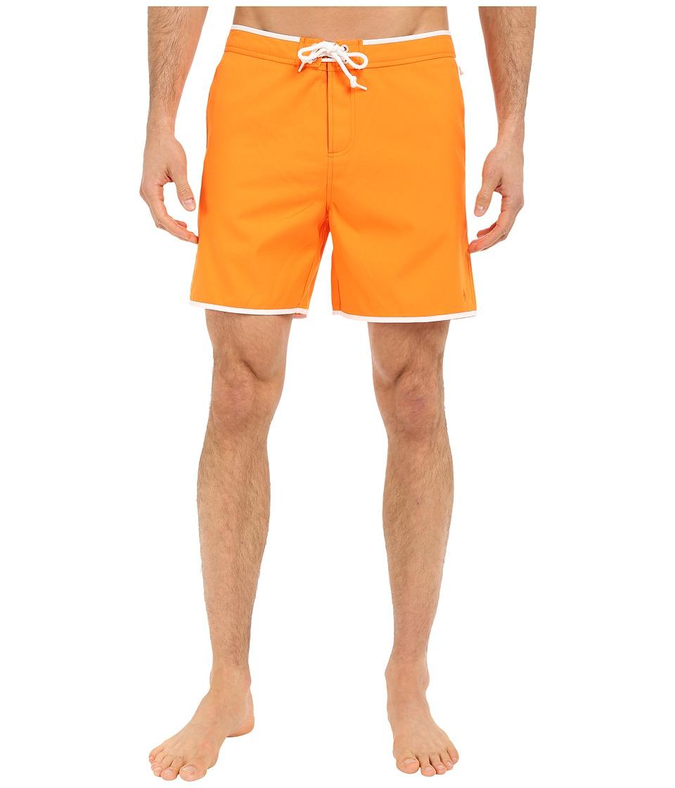 Original Penguin Earl Fixed Volley Swim Shorts (Orange Peel) Men