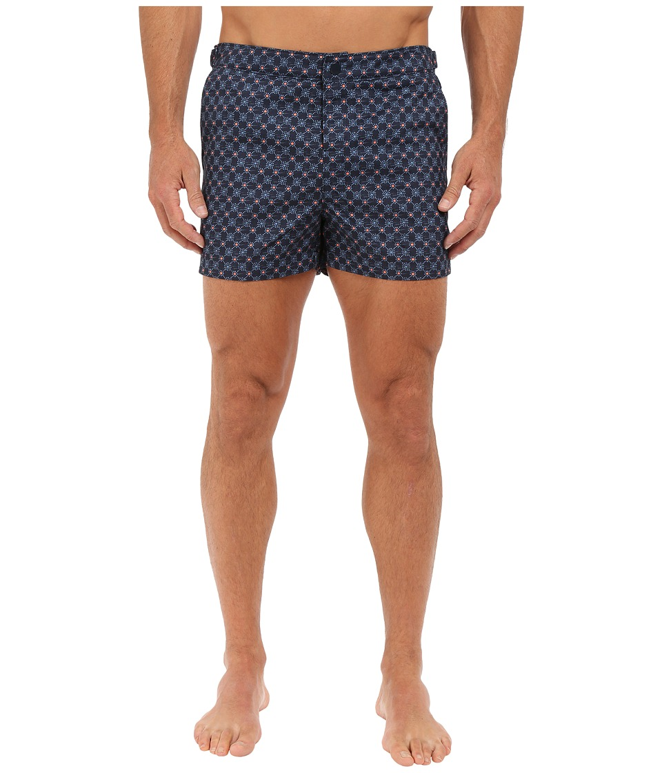 Original Penguin - Foulard Print Box Swim (Dark Sapphire) Men's Swimwear