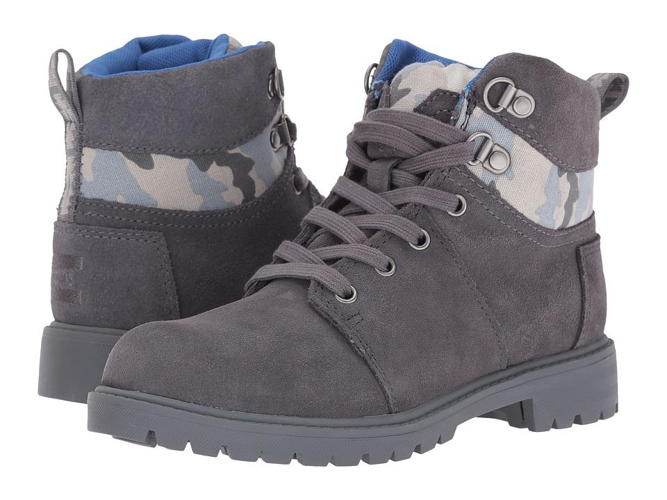 TOMS Kids - Summit Boot (Little Kid/Big Kid) (Castlerock Grey Suede/Camo) Girls Shoes