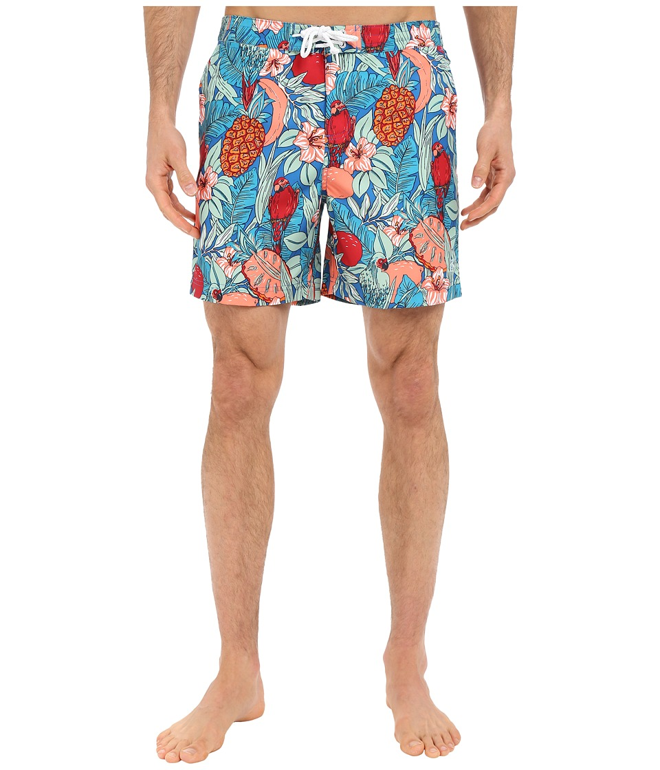 Original Penguin Jungle Print Volley Swim Shorts (Daphne) Men