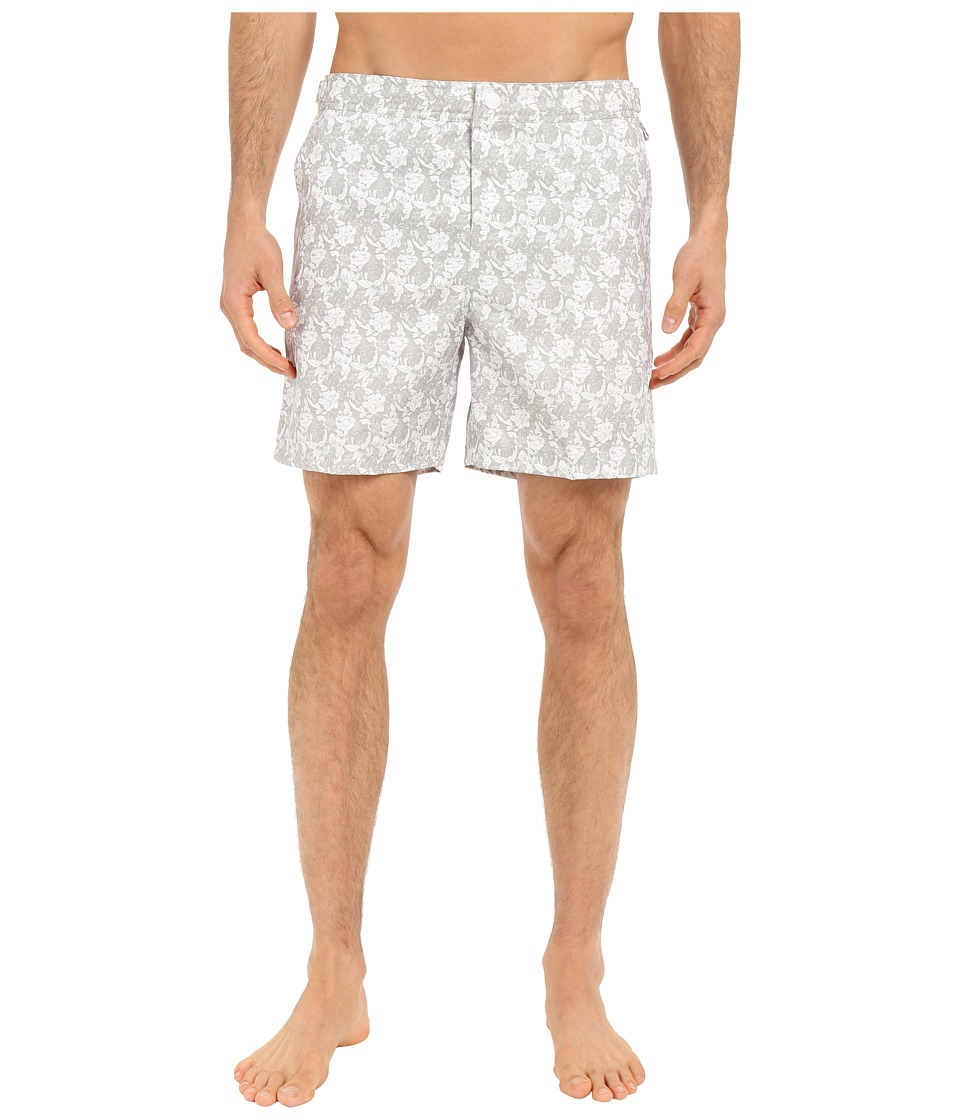 Original Penguin - Floral Print Volley Swim Shorts (Mirage Gray) Men's Swimwear