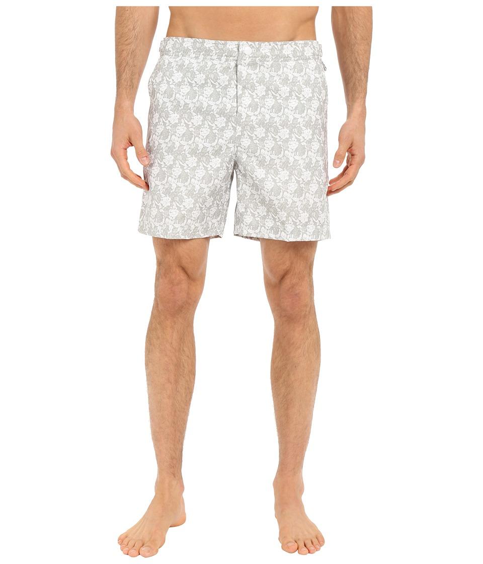 Original Penguin Floral Print Volley Swim Shorts (Mirage Gray) Men