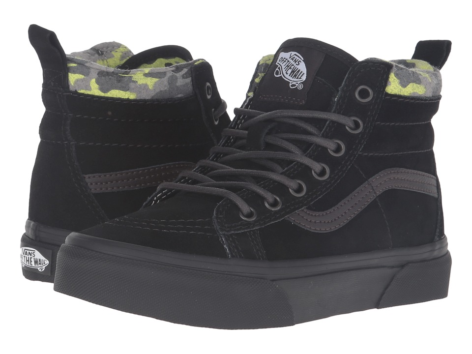 Vans Kids - SK8-Hi MTE (Little Kid/Big Kid) ((MTE) Black/Lime Punch) Boys Shoes
