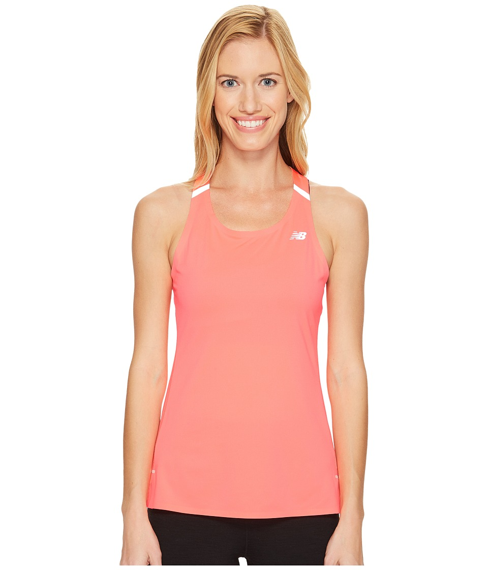 New Balance - Precision Run Top (Guava) Women's Sleeveless