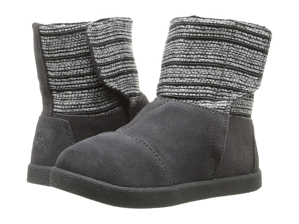TOMS Kids Nepal Boot (Infant/Toddler/Little Kid) (Castlerock Grey Metallic Woven/Suede) Girls Shoes