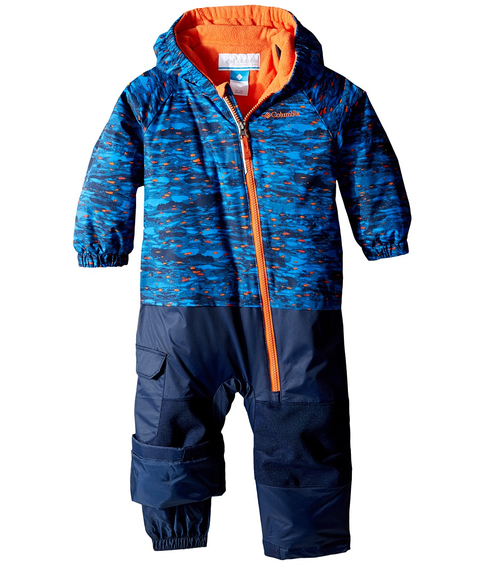 Columbia Kids - Little Dude Suit (Infant) (Super Blue Print/Collegiate Navy/Tangy Orange) Kid's Jumpsuit & Rompers One Piece
