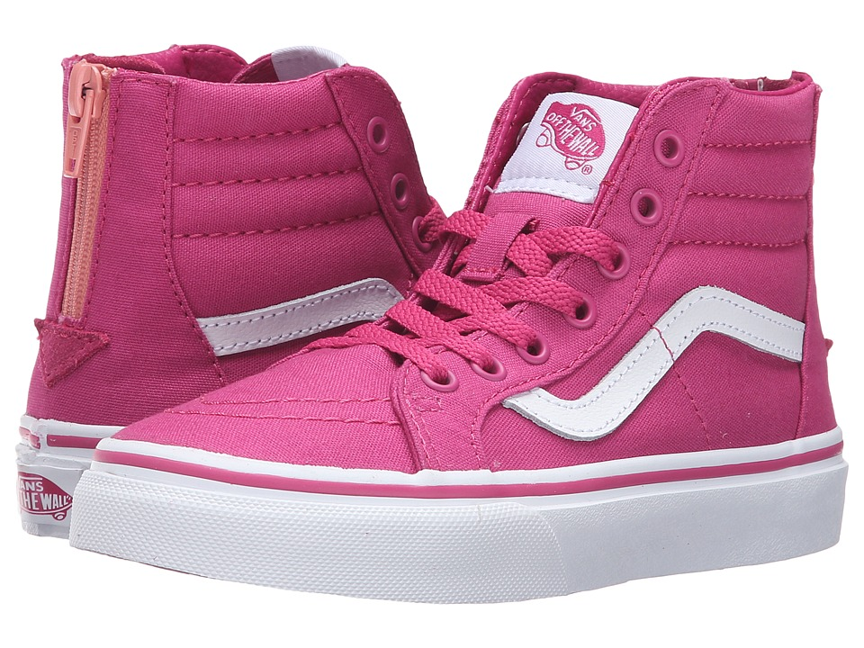 Vans Kids Sk8-Hi Zip (Little Kid/Big Kid) ((Canvas) Lilac Rose/Burnt Coral) Girls Shoes