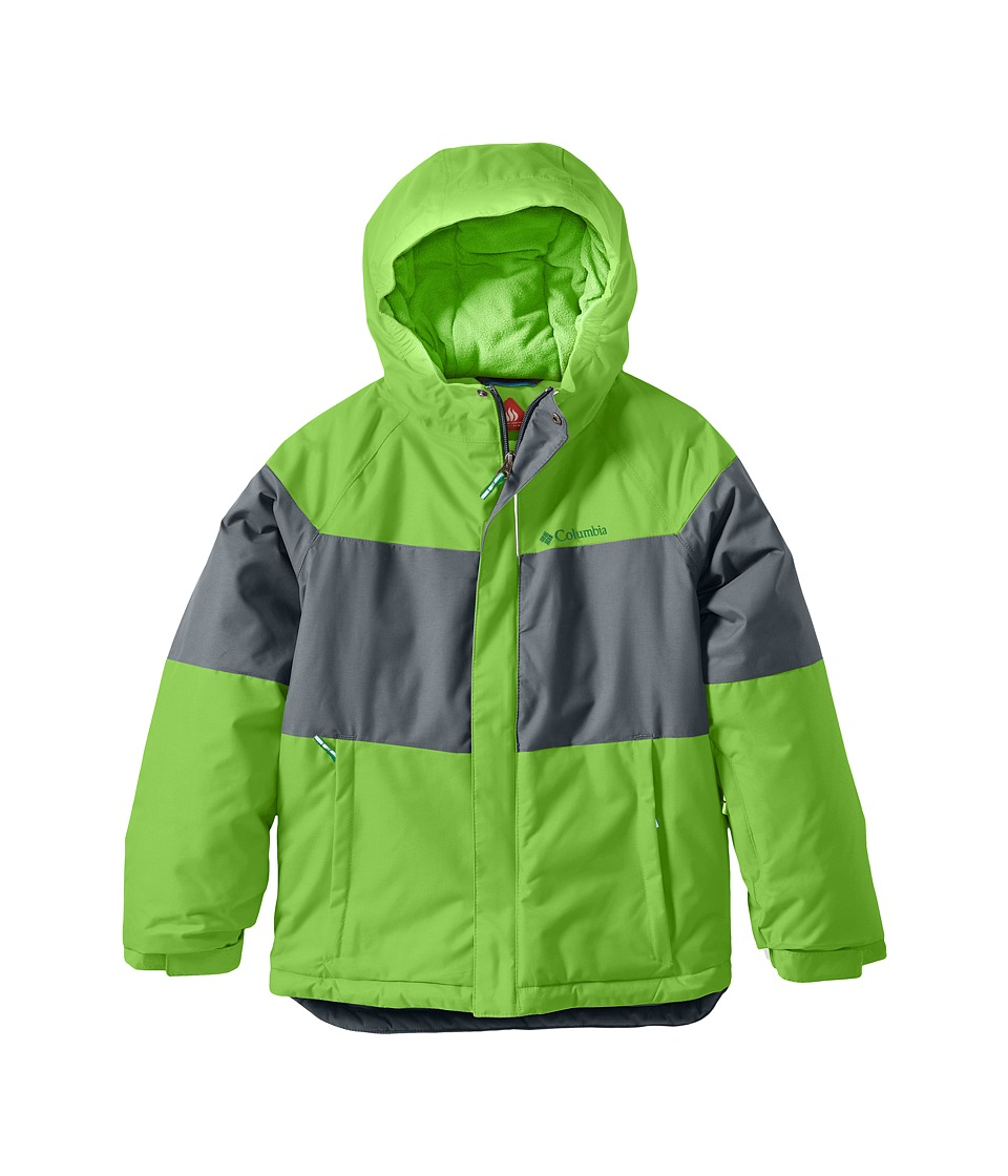Columbia Kids Alpine Actiontm Jacket (Toddler) (Green Mamba/Grey Ash/Fuse Green) Boy