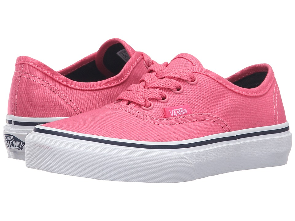 Vans Kids - Authentic (Little Kid/Big Kid) (Camellia Rose/Parisian Night) Girls Shoes